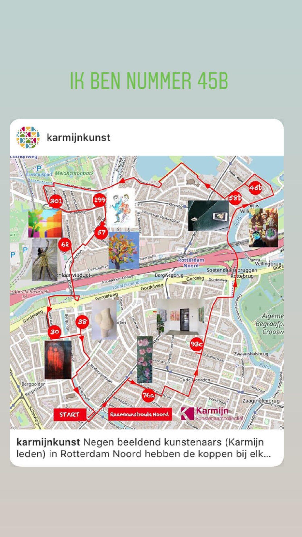 Kunstroute door Rotterdam Noord: kunst in je raam. Art route in Rotterdam Noord!
