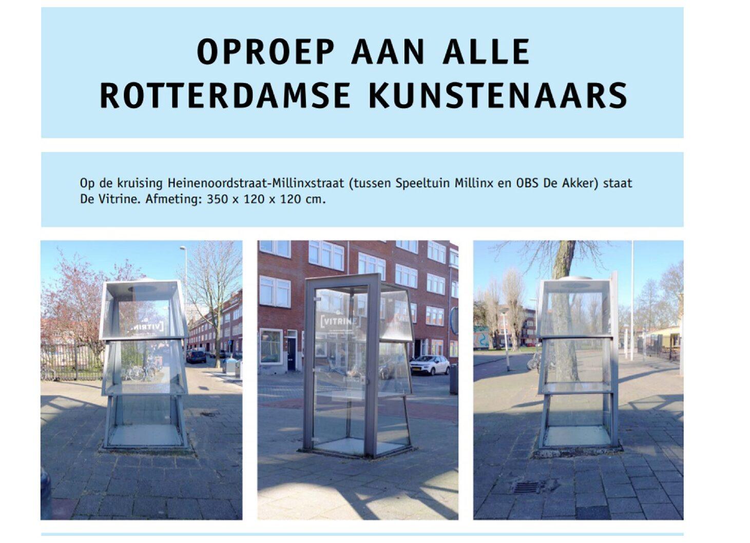 Uitgekozen voor De Vitrine van Cultuurwerkplaats Tarwewijk!